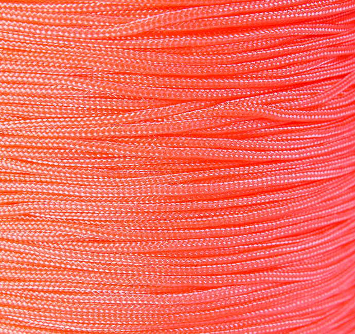 1mm Coral tomato nylon cord - nylon thread - chineese Knotting Cord - Macrame