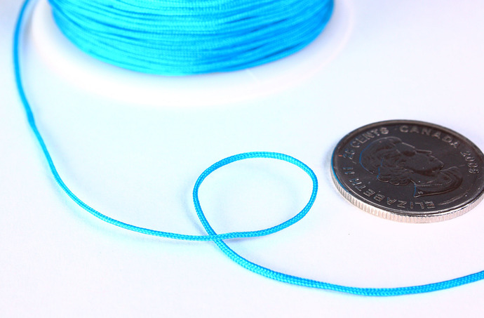 1mm deep sky blue nylon cord - nylon thread - chineese Knotting Cord - Macrame