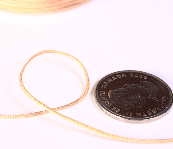 1mm Tan beige nylon cord - nylon thread - chineese Knotting Cord - Macrame