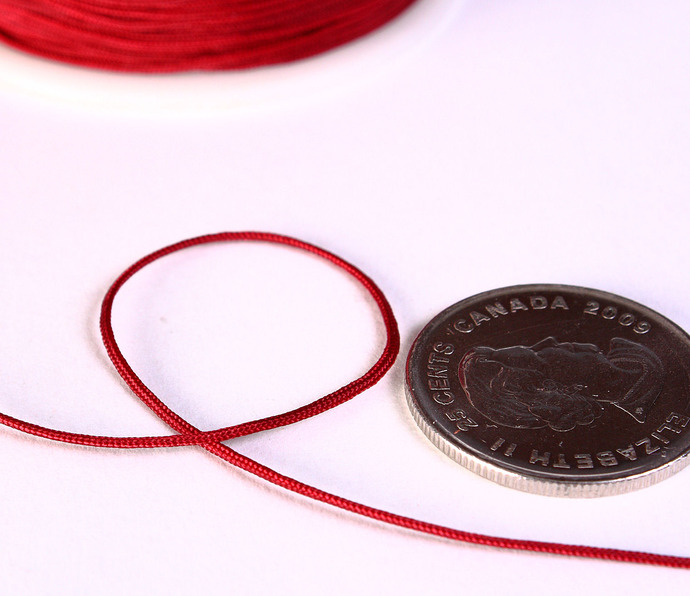 1mm Dark red nylon cord - nylon thread - chineese Knotting Cord - Macrame thread