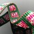 Slim bead loomed snap and wrap emerald bracelet with pink bead soup pattern