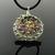 Fine silver wire crochet multicolor tourmaline spiral and silver beads pendant