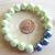 Handmade Green and Slate Blue Stretchy Bracelet