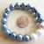 Handmade Slate Blue and Pink Stretchy Pearl Bracelet