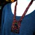 Split loom necklace bead loomed red and black Dark Cat - A HeatherCat