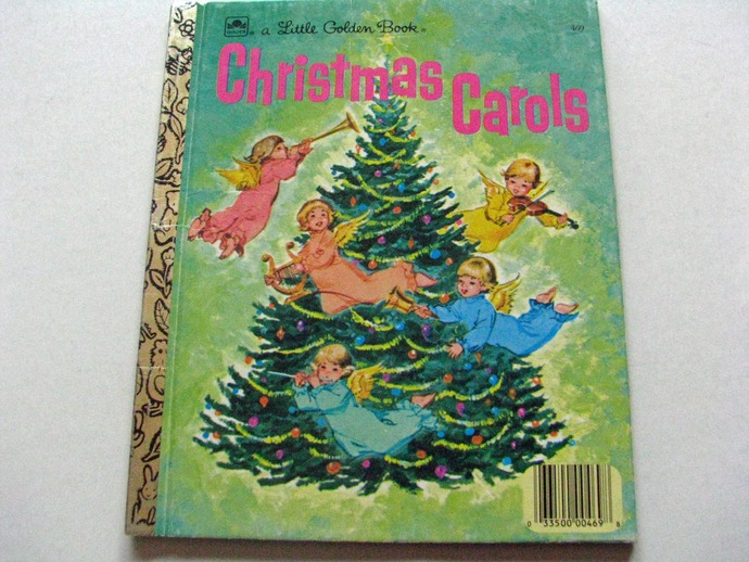 Vintage Little Golden Book-  CHRISTMAS CAROLS 1972-Excellent condition