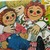 Vintage Little Golden Book - Raggedy Ann and Andy and the Rainy Day Circus