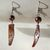 Handmade Mauve Iridescent Tooth-Shaped Shell and Glass Pearl Dangle Earrings -