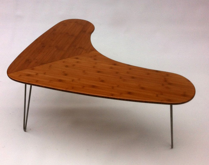 Mid Century Modern Bamboo Boomerang Coffee By Studio On Zibbet - Mid century modern boomerang coffee table