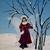 Winter Fairy Painting, fantasy, fine art, original, acrylic, home decor, fairie,