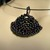 Beaded dragon scale pendant - Purple Shell