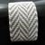Bead loomed fabric pattern cuff - Taupe and white Herringbone