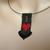 Bead loomed Halloween flying bat pendant - I love bats