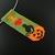 Bead loomed Halloween pendant - Pumpkin and cat