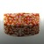 Slim bead loomed snap and wrap pumpkin bead soup bracelet