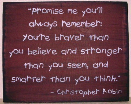 Primitive Winnie the Pooh Sign Promise Me Christopher Robin Plaque Inspirational