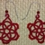 Victorian Red Bead Tatted Earrings
