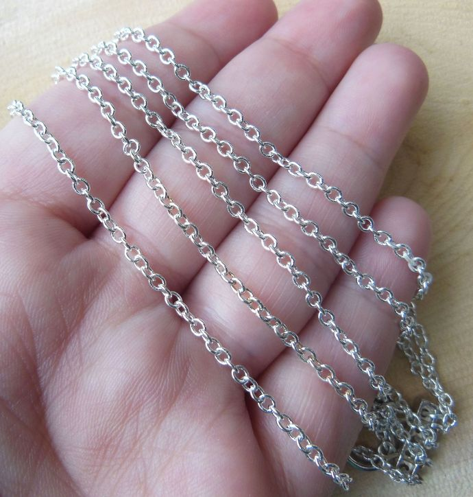 Handmade Silver-Tone Steel Chain Bracelet - Made to Order