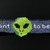 Bead loomed alien choker - I want to believe