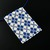 Bead loomed geometric opal white and blue floor tile pendant