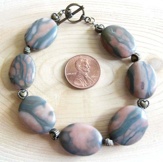 Canyon Marble Bracelet and Earring Stone Jewelry Set