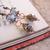Seafoam glass earrings with copper details