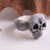 Spooky skull and bones ring. Hand made to order