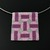 Bead loomed lilac, purple and silver floor tile pendant