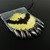 Bead loomed Halloween pendant - Full moon bat