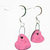 Valentine Heart charm earrings in princess pink