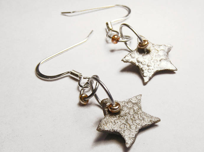 Christmas star earrings with custom color choices