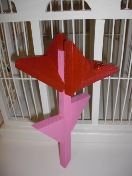 Plant Stake - Wooden Flower Valentine by ABCbirdhouses