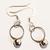 Silver Jingle Bell hoop Christmas earrings
