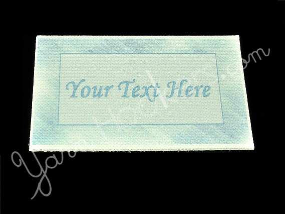 "Blue Steel - ""Iron On"" or "" Sew In"" - Cotton Fabric Labels (White) - For"