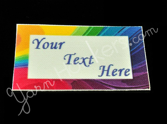 """Abstract - """"Iron On"""" or """" Sew In"""" - Cotton Fabric Labels (White) - For Crochet,"""