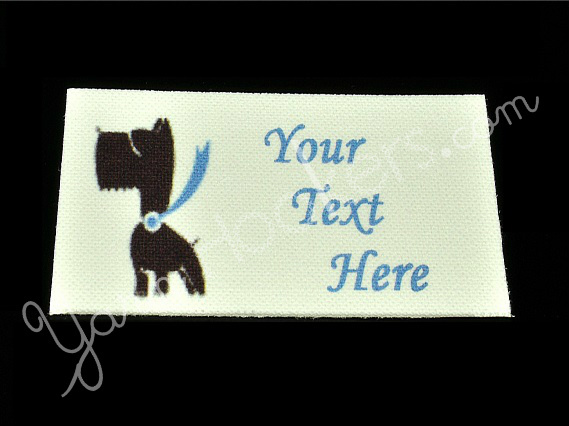 """Super Pooch - """"Iron On"""" or """" Sew In"""" - Cotton Fabric Labels (White) - For"""
