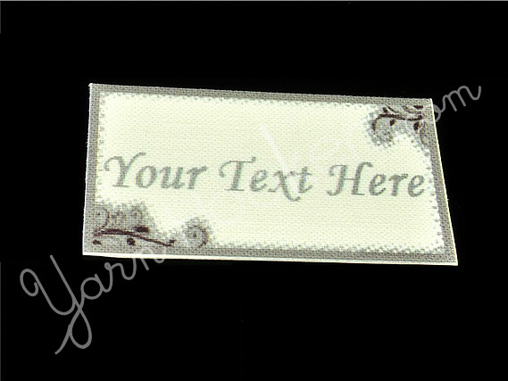 "Silver Lining - ""Iron On"" or "" Sew In"" - Cotton Fabric Labels (White) - For"