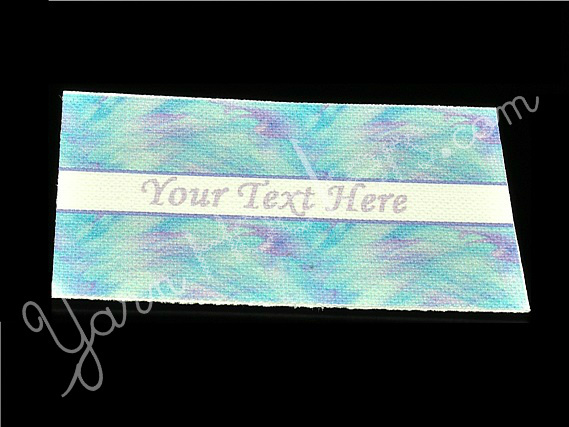 "Pastel Strokes - ""Iron On"" or "" Sew In"" - Cotton Fabric Labels (White) - For"