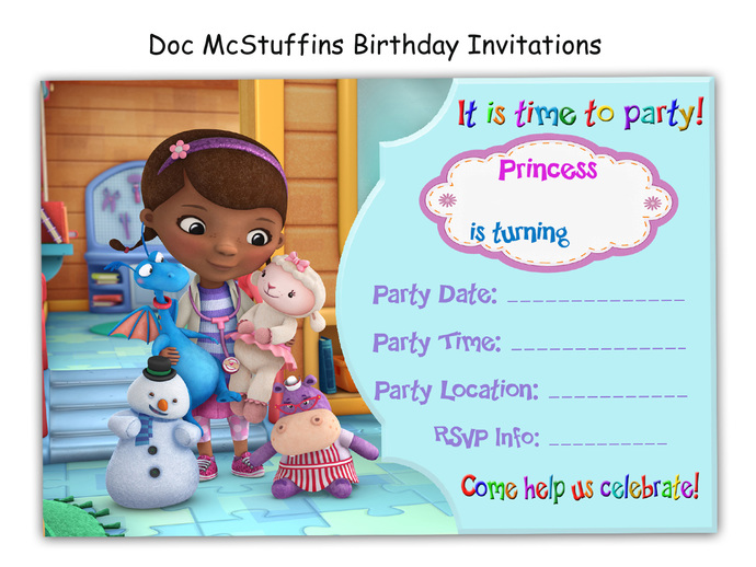 picture about Doc Mcstuffins Printable Invitations named Extraordinary Document McStuffins Birthday Invites, social gathering, paper items, printable invite, small children, birthday invite, playing cards