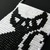 Bead loomed pendant Black and White Cat - A HeatherCat