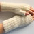 mens or womens fingerless gloves, mittens, cream, natural