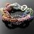 Wire crochet loop and seed bead bracelet - Confetti Loops