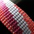 Slim bead loomed snap and wrap pink and grey mod stripes bracelet
