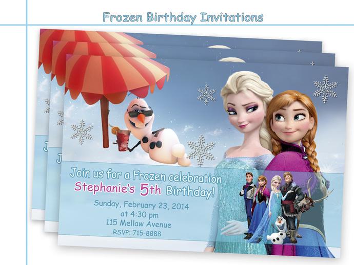 Amazing Frozen Birthday Invitations By Holidaypartystar On Zibbet