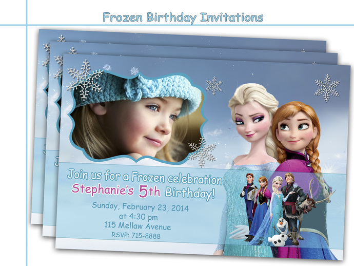 Amazing Frozen Birthday Invitations Party Personalized Princess