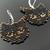 Bead loomed black cat earrings - A HeatherCat