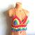 Vikni Designs Hippie Rainbow Crochet Top, Crochet Halter Crop Top