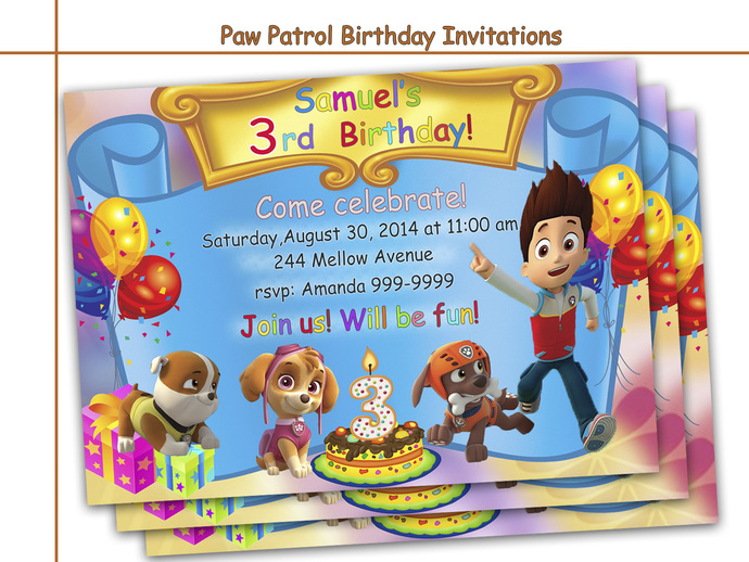 image regarding Paw Patrol Printable Birthday Card identify Extraordinary Paw Patrol Birthday Invites, social gathering, paper products and solutions, printable invite, youngsters, boy birthday invite, playing cards, Paw Patrol social gathering