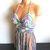 Vikni Designs Colorful Fringe Halter Tank Top, Crochet Top