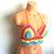 Vikni Designs Hippie Rainbow Crochet Top, Crop Top